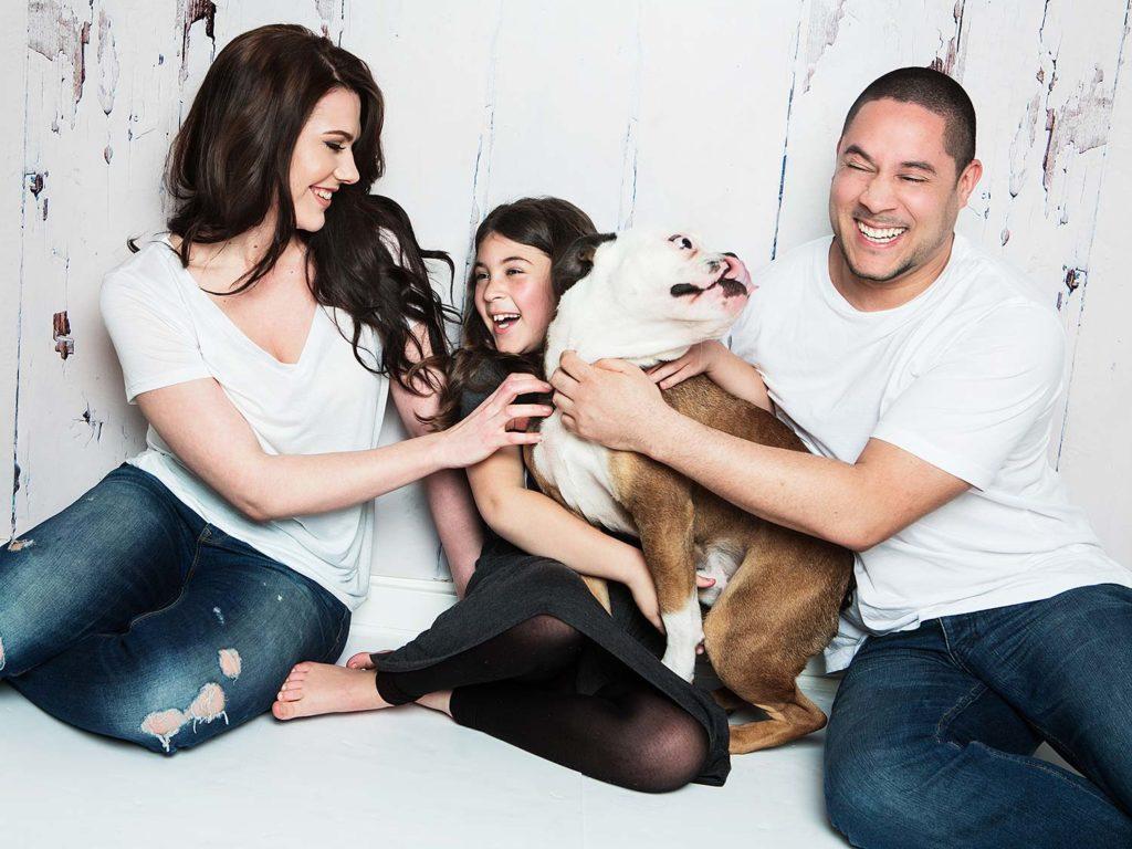 Family Photographed in Cambridge Studio