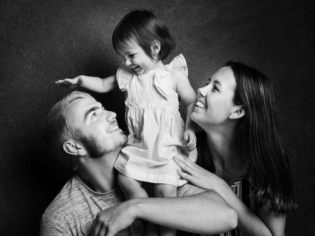 Happy family in Cambridge