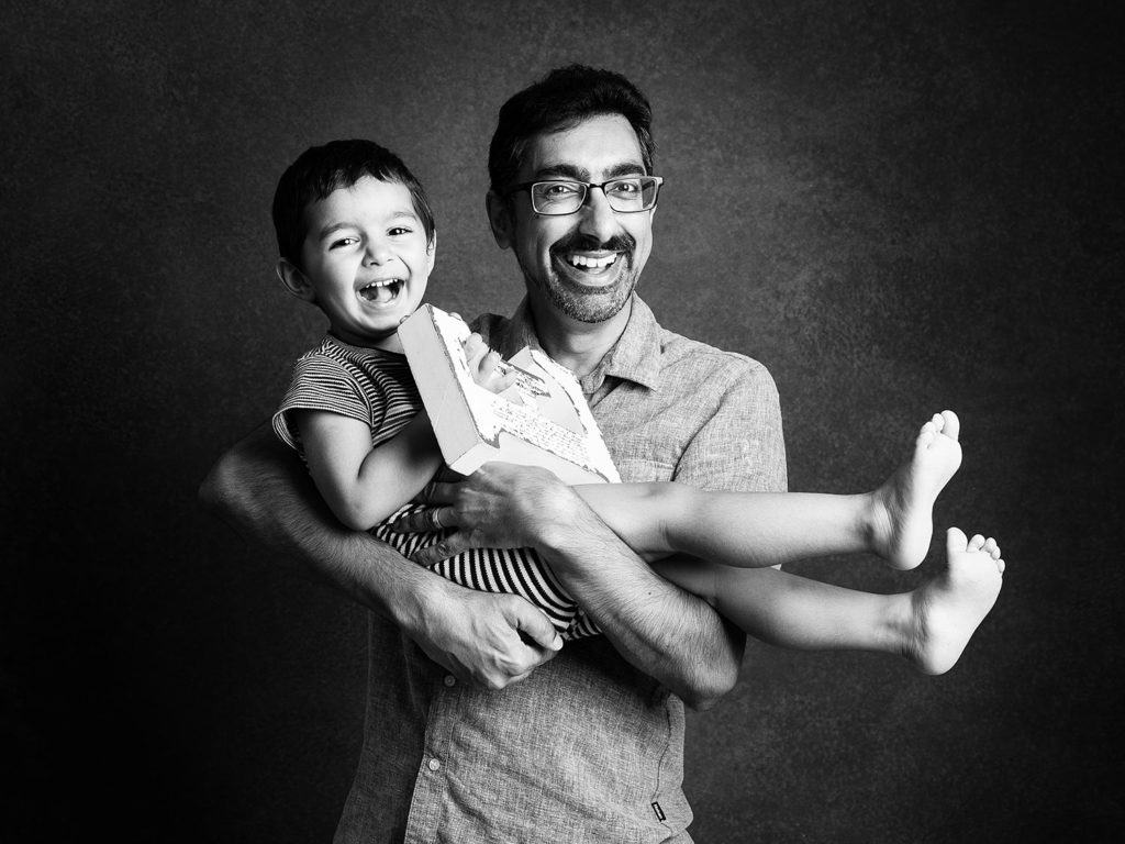 Dad with his son having good time at Dumbletons Photography Cambridge